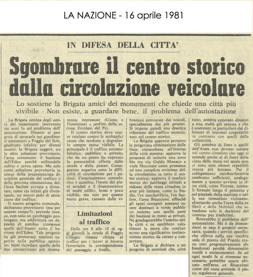 La Nazione, 16 Aprile 1981