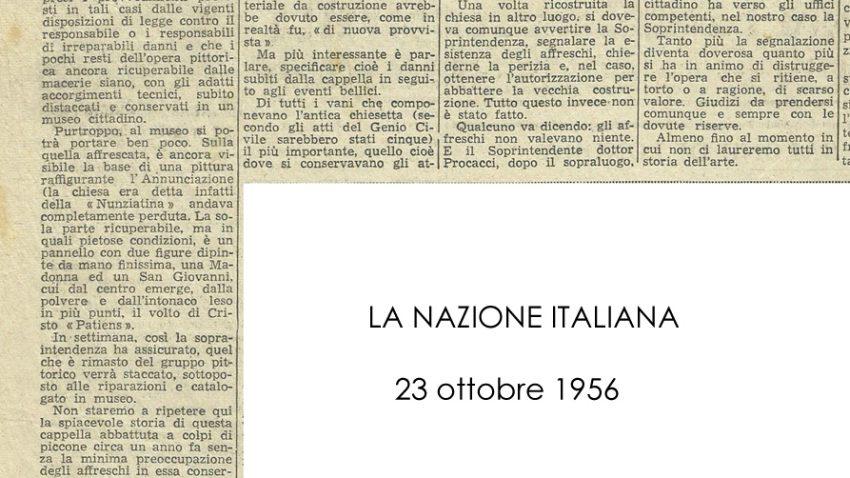 La Nazione Italiana, 23 Ottobre 1956