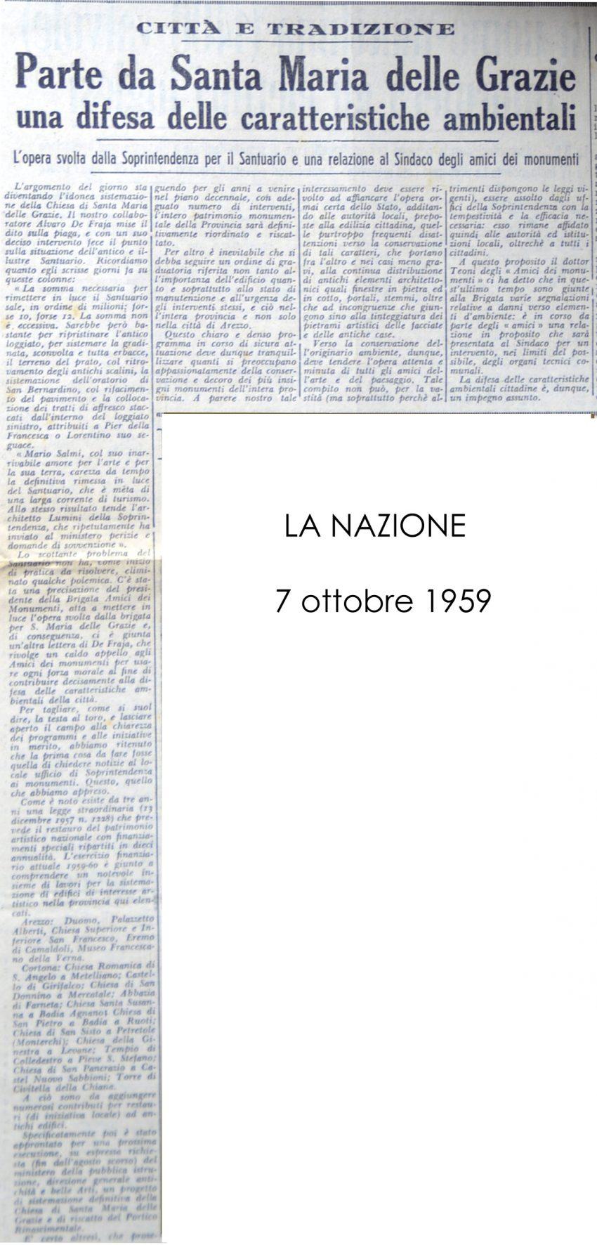 La Nazione, 07 Ottobre 1959